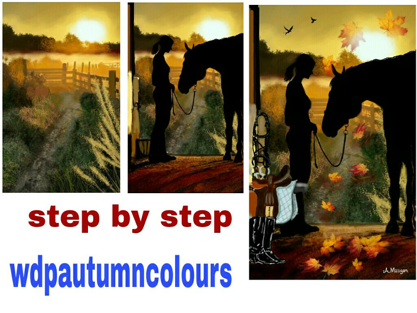 Quick step by step guide for Autumn colours 😊