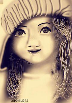 blackandwhite colorsplash emotions drawing baby