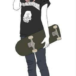 skate skateboard skateboarding freetoedit drawing