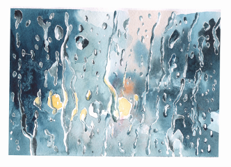 watercolor aquarelle paper rain rainydays