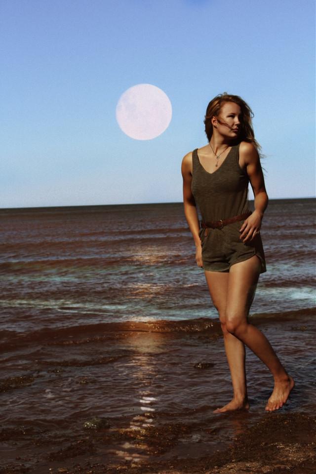 #wppsky #moonlight #beach #magic #interesting #picsart
