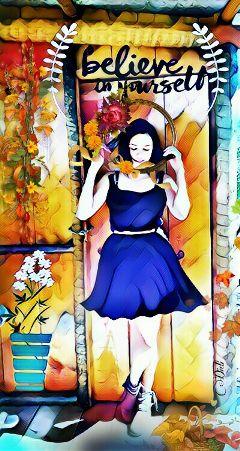 freetoedit magiceffect girl fantasy remix