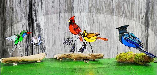 stainedglass myart 3dbirds glassart