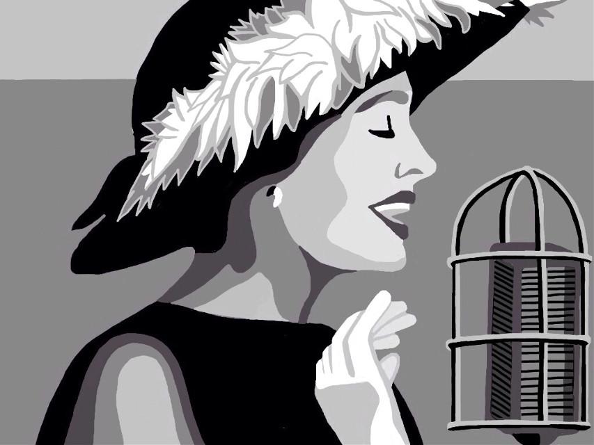Anita O'Day Newport Jazz Festival 1958#drawing #art #music #jazz #anitaoday #blackandwhite  #popart #editoverphoto