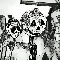 halloween happiness handmade people black freetoedit