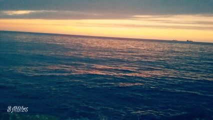 sunset beach sky california clouds