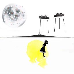 collage collageart digitalart minimalism yellow