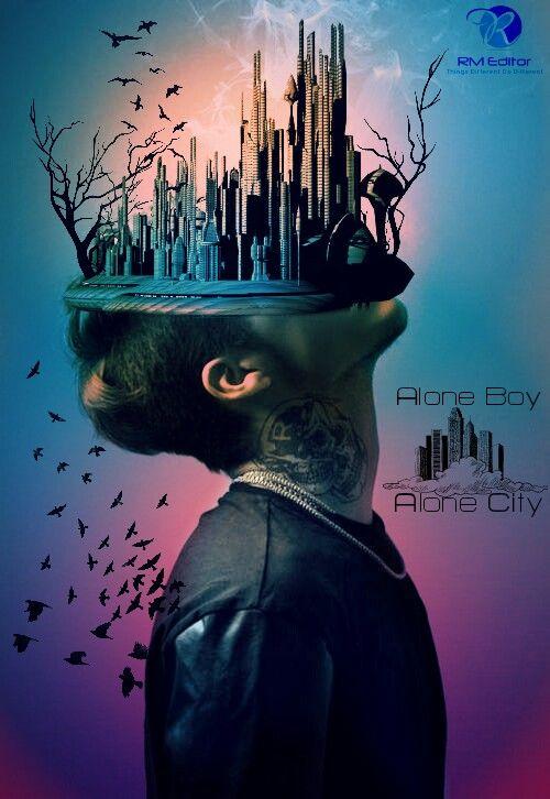Freetoedit alone boy city creative